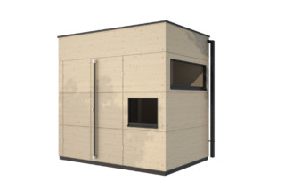 Garden shed flat roof S  by  gartana