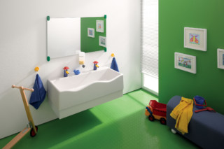 Geberit Bambini play and washing landscape with two washing areas  by  Geberit