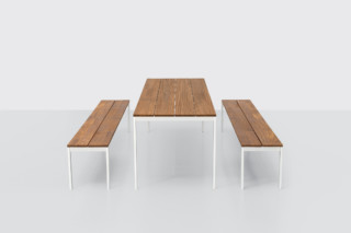 be-Easy slatted table  by  Kristalia