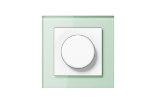 A Creation Glass Rotary Dimmer in soft white  by  JUNG