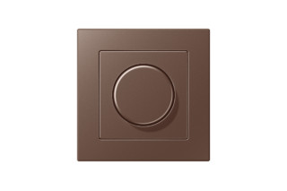A Creation Rotary Dimmer in mocha  by  JUNG