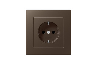 A Creation SCHUKO-Socket in mocha  by  JUNG