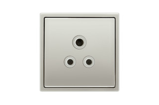 Socket British Standard in stainless steel  by  JUNG