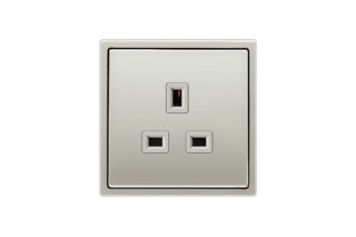 Socket British Standard 13A in stainless steel  by  JUNG
