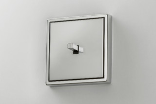 LS 1912 chrome one toggle lever cube  by  JUNG