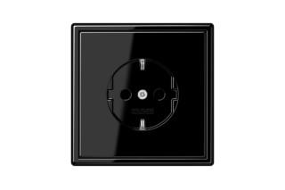 LS 990 SCHUKO-Steckdose in schwarz  von  JUNG