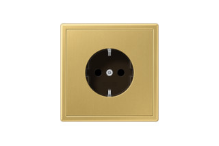 LS 990 SCHUKO-Socket in classic brass  by  JUNG
