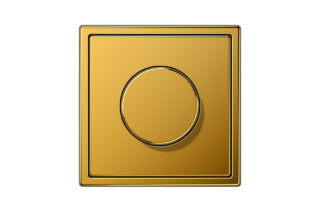 LS 990 Rotary Dimmer in 24 carat gold  by  JUNG
