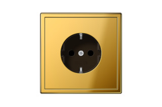 LS 990 SCHUKO-Socket in gold  by  JUNG