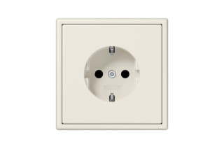 LS 990 SCHUKO-Socket in ivory  by  JUNG