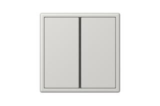 LS 990 F40 Push-button sensor 2-gang in light grey  by  JUNG