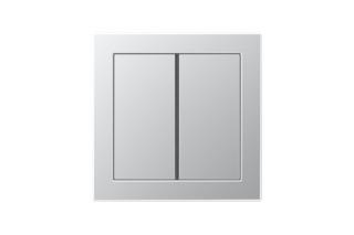 LS Design F40 Tastsensor 2fach in aluminium  von  JUNG