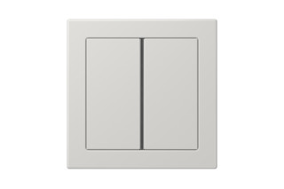 LS Design F40 Push-button sensor 2-gang in light grey  by  JUNG