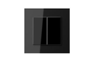 LS Plus F40 Tastsensor 2fach in schwarz  von  JUNG