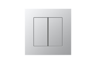 LS Plus F40 Push-button sensor 2-gang in aluminium  by  JUNG