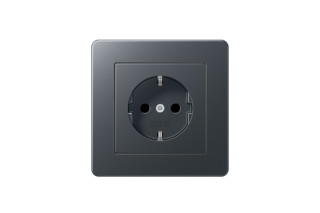 A Flow SCHUKO-Socket anthracite  by  JUNG