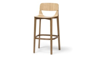 Leaf bar stool with back rest  by  TON