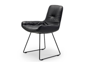 Leya armchair low with skid frame  by  Freifrau