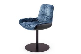 Leya armchair low with central leg  by  Freifrau