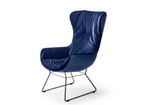 Leya cocktail wingback chair with wire frame  by  Freifrau