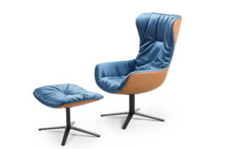Leya cocktail wingback chair with x-base frame  by  Freifrau