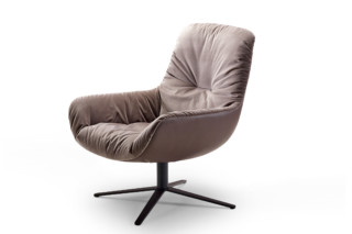 Leya lounge chair with x-base frame  by  Freifrau