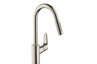 M41 M4116-H240 single lever kitchen mixer 240 with pull-out spray  by  Hansgrohe
