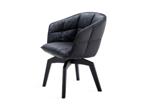 Marla armchair high with wooden frame and auto-return mechanism  by  Freifrau