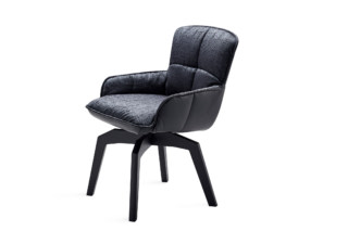 Marla armchair low with wooden frame and auto-return mechanism  by  Freifrau