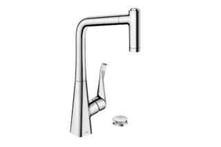 Metris Select single lever kitchen mixer with pull-out spout  by  Hansgrohe