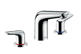Novus 3-hole basin mixer 100 with pop-up waste set  by  Hansgrohe