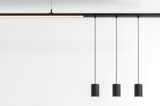 Pista Smart 48 tubed suspension track  by   Modular Lighting Instruments