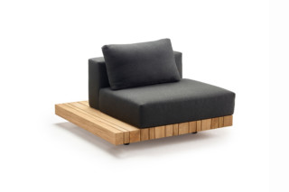 Plateau L-module seat/back + corner table  by  solpuri