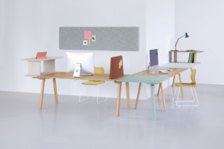Rail working desk system  by  Zeitraum
