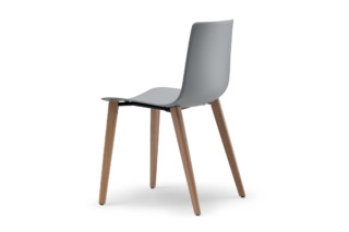 slim chair wood  by  Alias