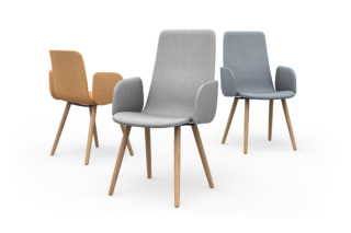 Sola conference chair with wooden legs  by  Martela