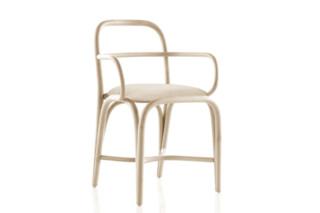 Fontal Stuhl mit Armlehnen gepolstert T011 U  von  Expormim