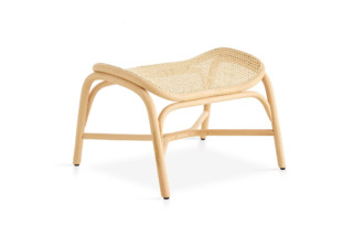 Frames footstool with rattan legs T056 R  by  Expormim