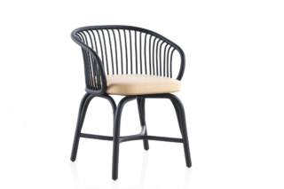 Huma dining armchair with rattan legs T070 R  by  Expormim