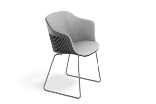 AIIR armchair with sled base  by  DEDON
