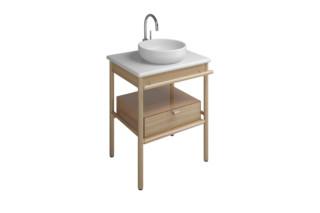 Mya ceramic washbasin incl. vanity unit and 1 drawer  by  burgbad