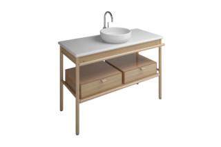 MYA Keramik-Aufsatzwaschtisch mit Waschtischunterschrank und 2 Schubladen  von  burgbad