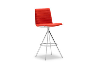 Flex stool with swivel base high back  by  Andreu World
