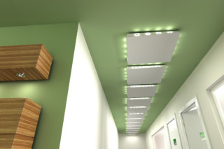 HELIX floating ceiling panel  by  Lindner Group