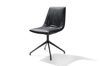 lui chair with swivel base  by  TEAM 7