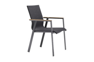 Soul stacking chair with teak-armrest  by  solpuri