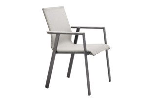 Soul stacking chair with alu-onlay  by  solpuri