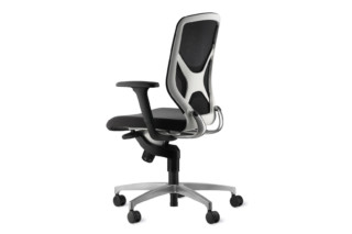 IN 3D swivel chair white back element  by  Wilkhahn