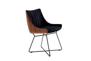 Rubie armchair low with wire frame  by  Freifrau
