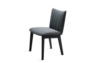 Rubie chair with wooden 4-leg frame  by  Freifrau